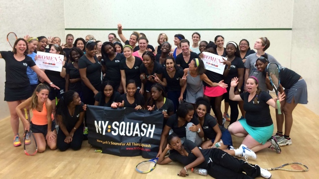Women's Squash Night in New York always brings out a little craziness!